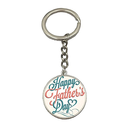 Chain Silver Charms (Dad Keychain Happy Father's Day Dad Keychain Fashion Accessories Silver Men's Charm Pendant Keychain Father's Day Birthday Christmas Gift Keyrings)