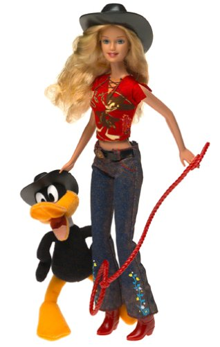 Looney Tunes Back in Action Barbie Loves Daffy Duck El Pato Lucas Patolino with 6