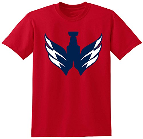 JM Shirts RED Washington Ovechkin Stanley Logo T-Shirt Adult