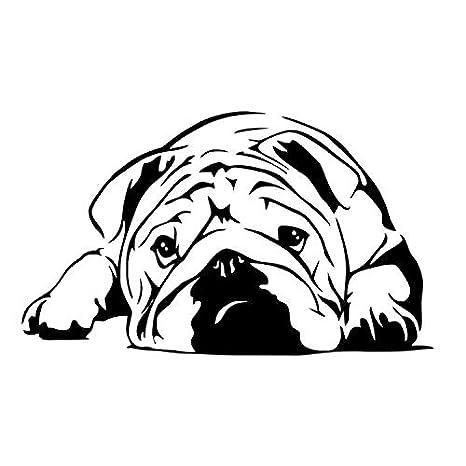 ZGQQQ Malestar Bulldog Vinilo Pegatinas De Pared Perro Inglés Decoración para El Hogar Sala De Niños Wallpaper Sala De Tatuajes Dormitorio Divertido ...