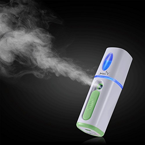 YAYAXI Nano Face Mist Mini Cool Mist Sprayer Beauty Facial Moisturizing & Hydrating For Skin Care Rechargeble Sprayer Green …