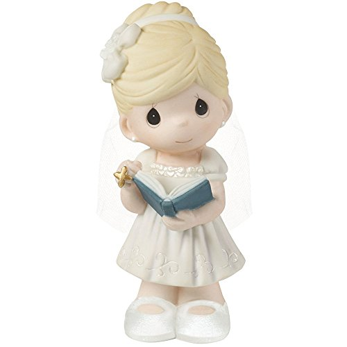 Precious Moments,  This Is The Day The Lord Has Made Bisque Porcelain Girl Figurine, For Girl, 153006 -