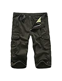 Tryist Mens Summer 3/4 Pants Plus Size with Side Pockets Cargo Shorts