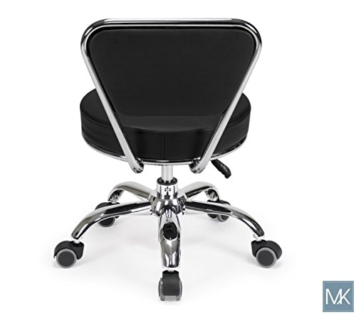 Salon Nail Pedicure Stool Pedicure Chair DAYTON BLACK Pneumatic, Adjustable, Rolling Salon Furniture & Equipment by MAYAKOBA (Image #5)