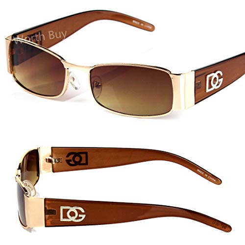 - New DG Mens Womens Rectangular Designer Sunglasses Shades Retro Fashion Vintage
