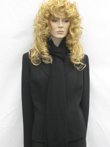 Cashmere Pashmina Group: Cashmere Scarf Shawl Stole Wrap (Sweater Knit Cashmere Shawl) Black by Cashmere Pashmina Group (Image #9)