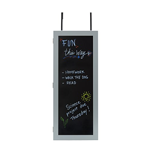 InnerSpace Luxury Products Wall Cabinet Organizer with Chalkboard - Gray