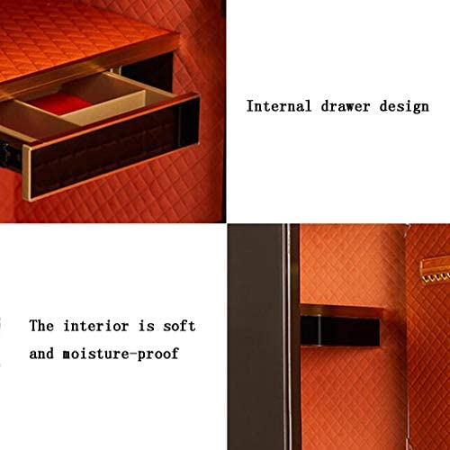 パーツボックス 安全なリモートコントロール100メートル操作家庭貴重品オフィスミニ金庫ベッドルーム見えないベッドサイドテーブル (Color : Brown, Size : 42*38*60cm)