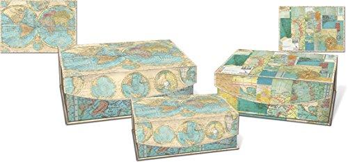 Punch Studio Medium Nesting Flip Top Boxes 3 Piece Set  World Of Atlas