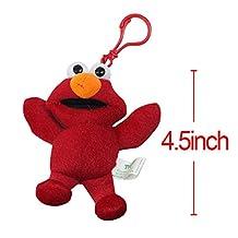 "OlgaToys® Fashion SESAME STREET Keychain Plush Doll Pendant Cute Keyring Gfit Red Height:11cm/4"""