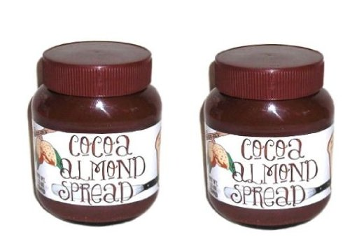 Trader Joe's Cocoa Almond Spread Delicious Blend of Almond Butter & Cocoa - Excellent on Toast , Pancakes & Waffles - Two Pack