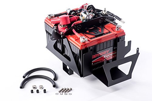 Off Road Batteries - Genesis Offroad Jeep JK Dual Battery Kit with 200 AMP Isolator for 2012+
