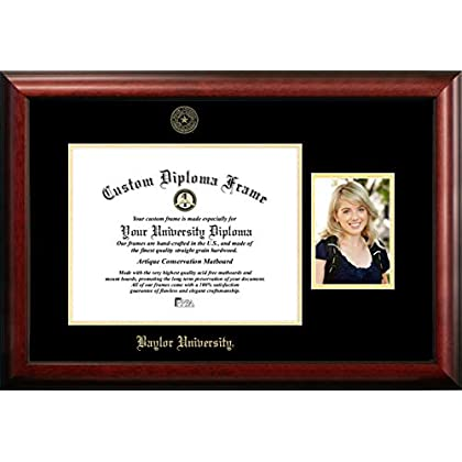 Image of Campus Images Baylor University 14w x 11h Gold Embossed Diploma Frame with 5 x7 Portrait Diploma Frames