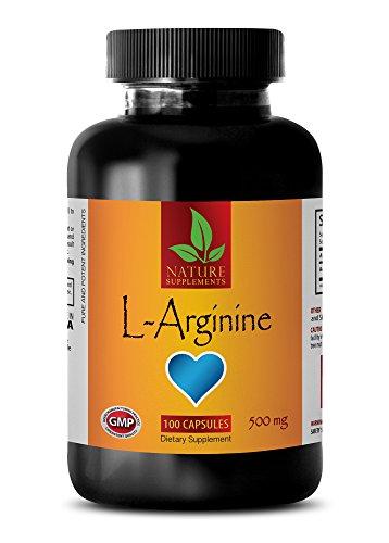 Testosterone booster for men sex - L-ARGININE 500mg - L-arginine capsules - 1 Bottle 100 Capsules by NATURE SUPPLEMENTS