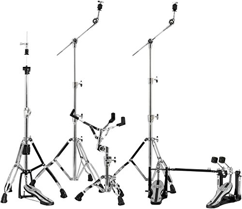 Mapex Mars Series HP6005-DP 5-Piece Hardware Pack with Double Bass Drum Pedal (Black Drum Hardware)
