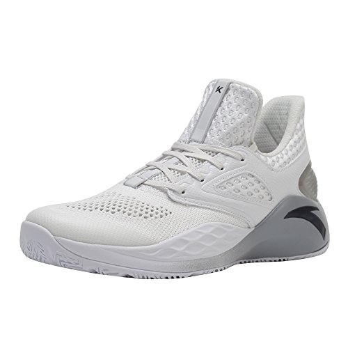 ANTA KT Light Men's Basketball Shoe Training Sneakers (10 D(M) US, White)