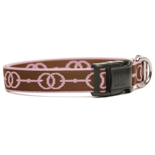 Deauville Designer Dog Collar - Brown and Pink Small