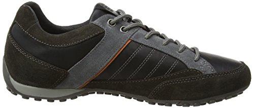 Geox Men's Snake B Low-Top Sneakers Mud/Black 9bi4UyyG