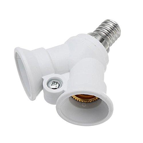 Bazaar AC100-230V One E14 To Two E14 Bulb Adapter Lamp Holder Splitter Converter Socket for Halgon Light Big Bazaar