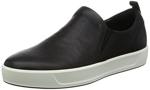 ECCO Women's Women's Soft 8 Slip-on Fashion Sneaker, Black, 40 EU/9-9.5 M US