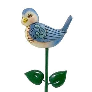 Jim Shore Bluebird, jardín planta Stick