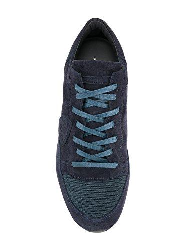 Philippe Model Herren TRLUDS03 Blau Leder Sneakers
