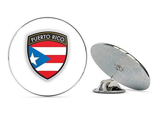 Puerto Rico Flag Design Round Metal 0.75