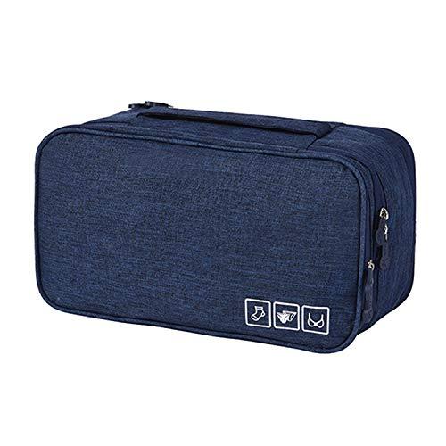 (sensitives Bra Underwear Drawer Organizers Travel Storage Divider Boxes Bag Socks Cloth Case Clothing Wardrobe Accessories Supplies Items,Navy Case)