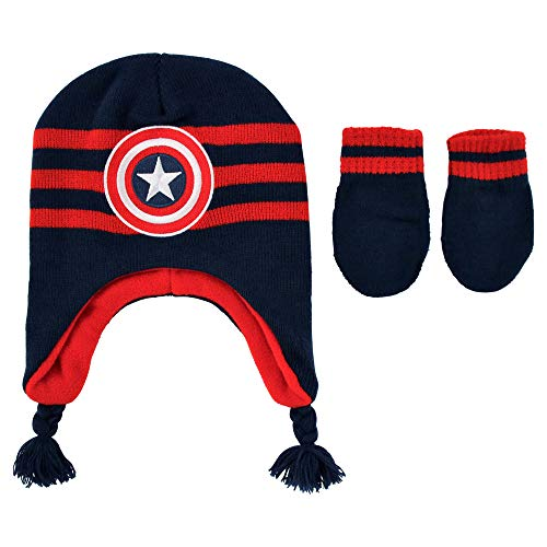 Captain America Fleece Hat - Marvel Baby Boys Avengers Cap, Captain