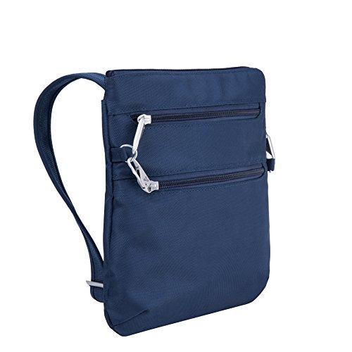 Travelon Anti-Theft Classic Slim Dbl Zip Crossbody Bag, Midnight by Travelon (Image #7)