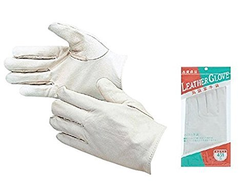 おたふく手袋/高級クレスト革手袋 (白) [10双入]/品番:451 B01N9LMY4G