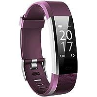 Bracelet intelligent Toksum® Boost 2® Fitness Tracker | Montre podomètre avec moniteur de fréquence cardiaque et de sommeil et GPS | Pour les enfants, les femmes et les hommes | Pour iPhone et Android
