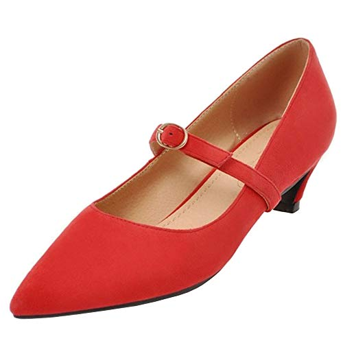 Mary Pumps Melady Dolce Heels Jane Rosso Kitten Donne q4w7Bg