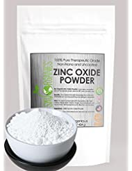 Zinc Oxide Powder By Sky Organics 16oz- Uncoated & Non-Nano- 100% Pure Cosmetic Grade- For DIY Sunscreen, Lotion, UVA and UVB protection- Ideal for Diaper Rash Cream