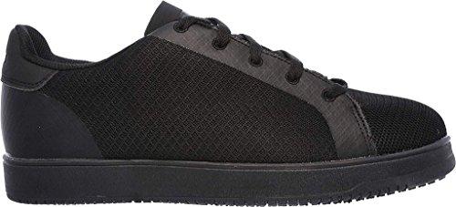 Skechers Herren Arbeit Entspannter Fit Ossun Onley SR Wasserdichter Sneaker (Black Mesh