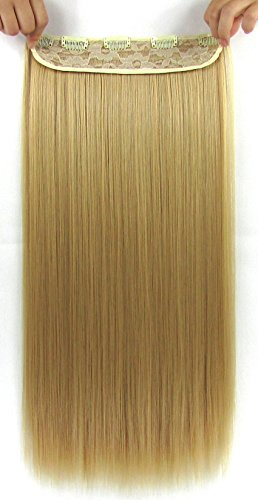 Easy Chemistry Halloween Costumes (Beaute Galleria – 22 Inches Clip In Synthetic Hair Extensions (Straight) (Golden Blonde))