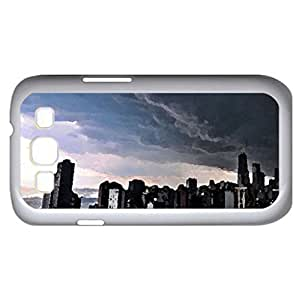 Storm (Skyscrapers Series) Watercolor style - Case Cover For Samsung Galaxy S3 i9300 (White)