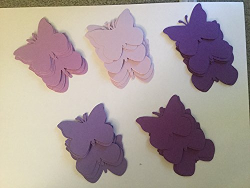 - 50 Shade of Purple Paper Butterfly Die Cuts, 2 Inch Butterfly, Wedding, Birthday, Baby Shower, Large Butterfly Confetti