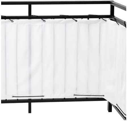 Ikea Dyning Sichtschutz Fur Balkon In Weiss 250x80cm Amazon De Kuche Haushalt
