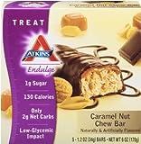 Atkins Endulge Bar Caramel Nut Chew, Caramel nut chew 5 Pack (Pack of 2)