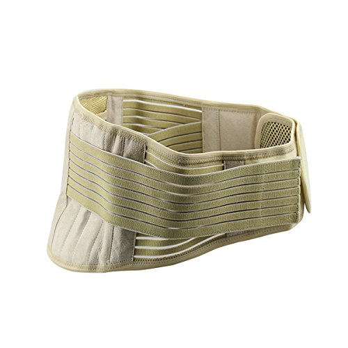 Tcare Adjustable Waist Belt,Tourmaline Self-heating Magnetic Therapy Back Lumbar Pain Relief Support Brace With Inside Mesh Bag (L)