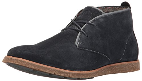 Hush Puppies Men's Roland Jester Chukka Boot, Navy Suede, 9 W US