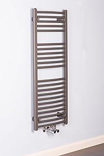 Scaldasalviette Termosifone da Bagno 1186 x 500 mm Silver curvo ...