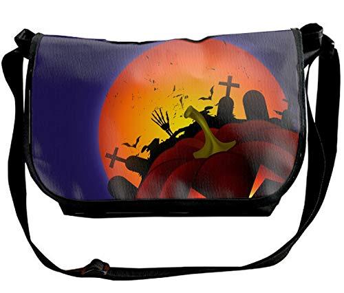 - Scary Halloween Face Custom High-grade Nylon SingleShoulder SlantSlingBag Cross-body Bag