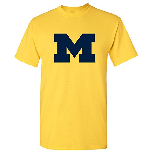 Michigan Wolverines Primary Logo T-Shirt - 2X-Large - Maize