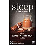 Cheap Steep by Bigelow Organic Sweet Cinnamon Black Tea 20 Count (Pack of 6) Organic Caffeinated Individual Black Tea Bags, for Hot Tea or Iced Tea, Drink Plain or Sweetened with Honey or Sugar