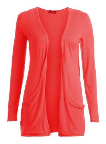 Boyfriend style Gilet Fast Manches Longues Fashion Corail 40 Long Femme 42 6A6TwHq