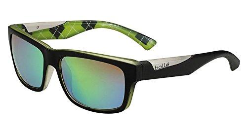 Bolle Jude Sunglasses, Matte Black/Lime,Polarized Brown