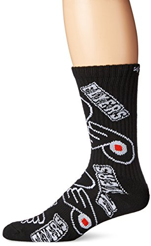 NHL Philadelphia Flyers Women's Bravado Sport Casual Dress Crew Socks (1 Pack), Large, Black