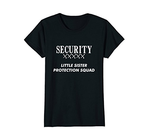 Womens Big Brother Gift Ideas Little Sister Protection Squad Shirt XL (Last Minute Halloween Costume Idea)